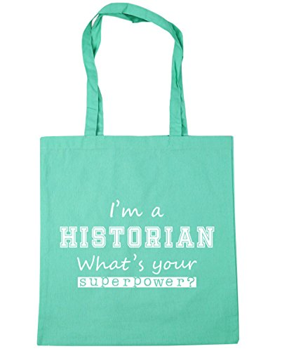 Tote Your Shopping Mint I'm A Beach HippoWarehouse Bag litres What's 10 Superpower Historian Gym 42cm x38cm S0YUx