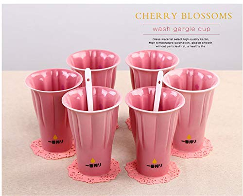 Ceramic Cup Milk Cup Mark Cup Retro Creative Rose Red Coffee Cup Cherry Blossom -