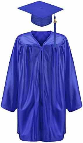 44e74e8c278 Annhiengrad Unisex Shiny Kindergarten Graduation Gown Cap Tassel 2018 2019  Package