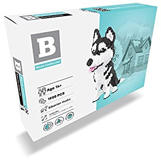 Husky Nanoblock Dog Building Set - Your Very Own Mini Pet Companion Nano Block Kit - 14 Years Old and Up