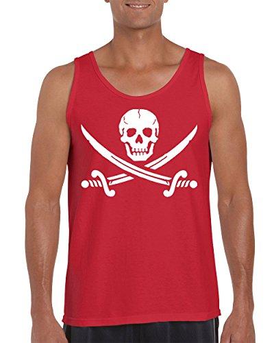 Jolly Roger Pirate Flag with Cross Swords Men