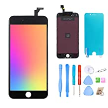Srinea Screen Replacement for iPhone 6 4.7'' Black, LCD Display Touch Screen and Digitizer Frame Assembly with Full Repair Kit for iPhone 6