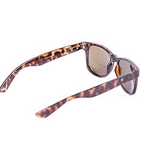 """Lovin Rays"" Wayfarer Polarized Nearly Invisible Line Bifocal Sunglasses (Tortoise, 1.5)"