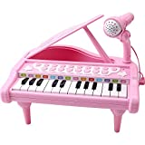Amy&Benton Toddler Piano Toy Keyboard Pink for Girls Birthday Gift 1 2 3