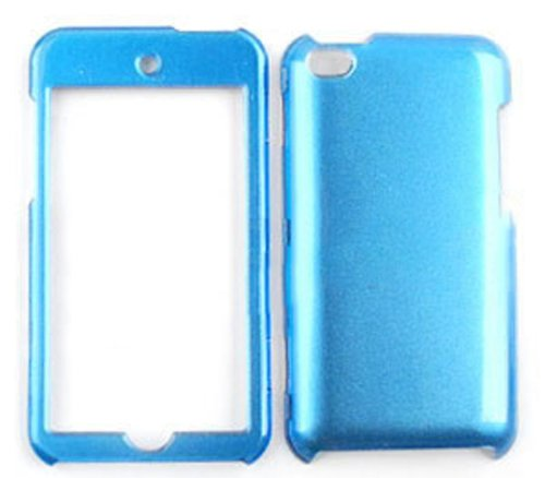 ACCESSORY HARD FACEPLATE CASE COVER FOR APPLE IPOD ITOUCH 4 CRYSTAL SOLID BLUE