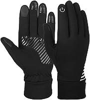 Vbiger Herren Handschuhe Touchscreen Handschuhe SMS Handschuhe Laufenhandschuhe Sport Handschuhe für Winter, Schwarz-1, S