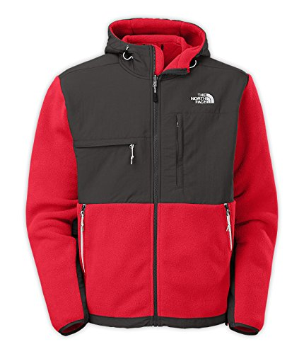 The North Face Men's Denali Hoodie Fleece, TNF Red/Asphalt Grey, M