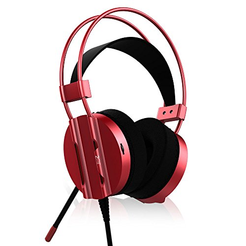 LED Light Noise Canceling Gaming Headphone, ICE FROG Wired 7.1 Channel Virtual USB Surround Stereo Sound PC Over Ear Headset with Mic for PS4 Slim Pro Xbox One X Laptop Macbook iPad Smartphone - (Toshiba Bearing)