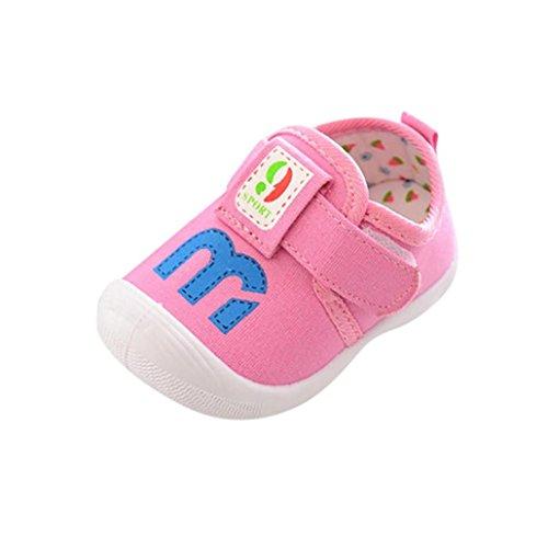 babyschuhe - cinnamou Quietschende einzelne Schuhe - Unisex-Baby weiche Sohle Leder / Baumwolle Schuhe Infant Jungen-Mädchen-Kleinkind Schuhe bis 1-4.5 Jahre (20, Dunkelblau) Rose