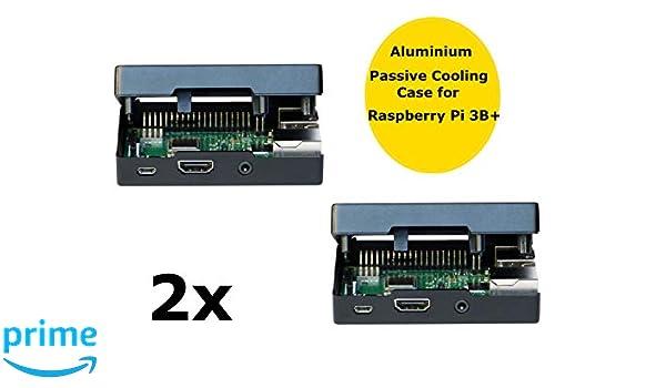 MANOUII 2 x Raspberry Pi 3 B + Carcasa de Aluminio CPU ...