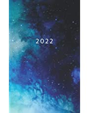 2022: Weekly Planner Week To View   5 x 8 Dated Agenda   Monday Start Appointment Calendar   Organizer Mini Book   Soft-Cover Galaxy Blue