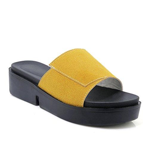 de de Chancleta Tacón nbsp; Casuales amp;X Sandalias Qin Mujer Yellow nbsp; nbsp;Grueso 7nYWq4pxwa