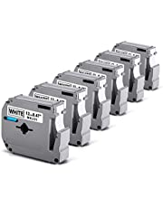 6 Pack Labelife M-K231 PT-M95 Label Tape Compatible for Brother P-Touch M231 MK231 MK-231 M-231 M231S 12mm 0.47 Inch for Ptouch PT-M95 PT70 PT90 PT80 PT65 Label Makers, 26.2 Feet, Black on White