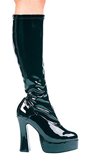 Svart Chacha Boot Sz9 Kostyme Tilbehør