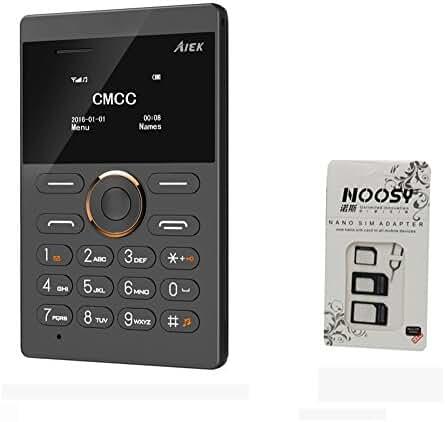 Fsmart S5  Mini Cell Phone  Unlocked  GSM Ultra Slim International  Cell Phone  With Sim Card Adapter (Black)
