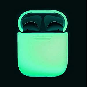 Ocamo Case Cover Silicone Shock Proof Protective Case Glow in the Dark Portable Headset Holder Shell for Apple AirPods