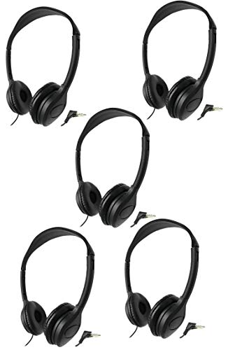 SmithOutlet Headphones 5 Pack for Classroom/Library/Students/Kids