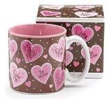 Marvela Hearts Love Valentines Day Coffee Tea Mug 13oz Ceramic Kitchen Gift