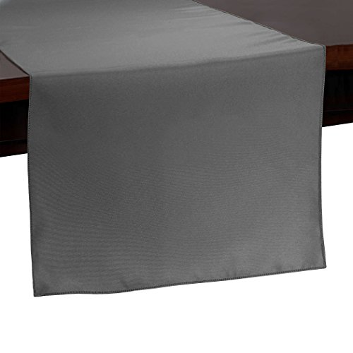 Ultimate Textile -10 Pack- 14 x 54-Inch Polyester Table Runner, Charcoal -