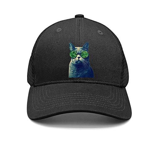 b4a732b4bc3 Unisex Casual Baseball Cap Marijuana Leaf Weed Cannabis cat