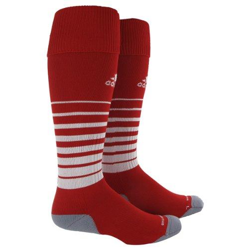 adidas Team Speed Soccer Sock, University Red/White, Medium
