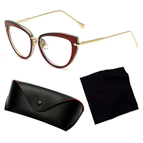 Sunglass C5 Vintage Juleya Gradient Gafas Mujer sol UV400 de Black Gafas Eye Cat fUxUT6qP