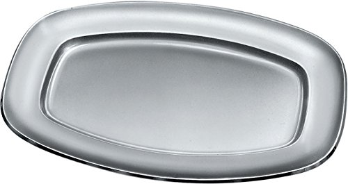 Alessi 125/52 Rectangular Flat Dish, Silver by Alessi