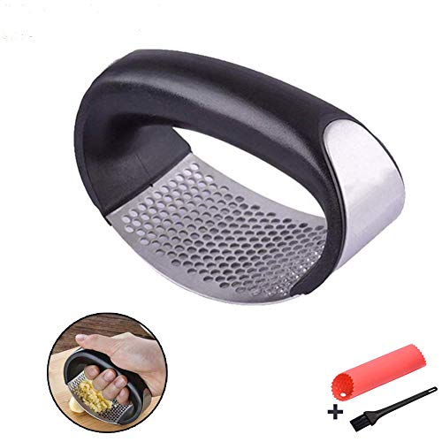 Garlic Press, Stainless Steel Mincer and Crusher