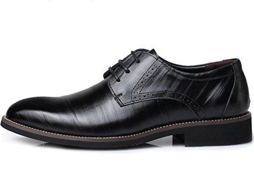 Pattini di cuoio degli uomini di CSDM Scarpe da sposa casual di punta delle scarpe da sposa di punta di formato , black , 41