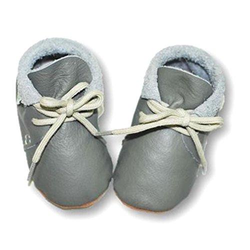 Babyschuhe Retro Leder grau Gr. M