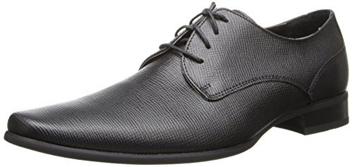 Calvin Klein Men's Brodie Burnished dress Calf Oxford, black, 15 M US