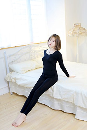GBHNJ Thermal Underwear Sets Women'S Slim Autumn And Winter Black F(Suitable Weight 80-130 Catty) by GBHNJ Thermal Underwear