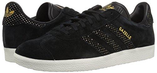 Adidas Originals Women's Gazelle W Sneaker, Black/Black/Gold Metallic, 7.5 M US