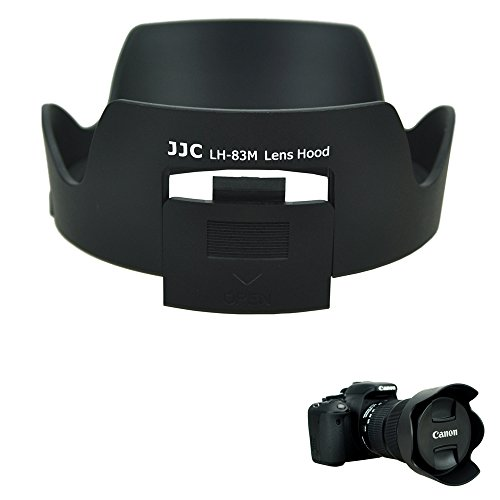 JJC Bayonet Dedicated Lens Hood Shade for Canon EF 24-105mm f/3.5-5.6 IS STM Lens, Replaces Canon EW-83M OEM Lens Hood