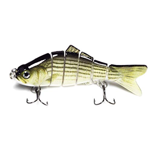 kle Jointed Bass Swimbait Fishing Lure Crankbait ||| 4 inches 0.7oz (20g) (Baby Striped Bass) ()