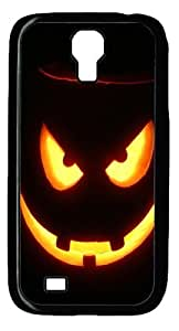 Horror Halloween Pumpkin Custom Samsung Galaxy I9500/Samsung Galaxy S4 Case Cover Polycarbonate Black