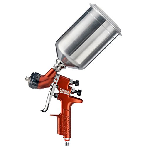 Tekna Copper Gravity Feed Spray Gun 1.2 and 1.3 Needle 900 cc Aluminum Cup by DeVilbiss