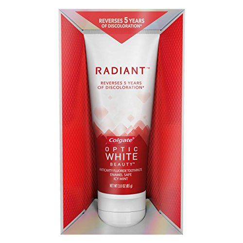 Colgate Optic White Radiant Whitening Toothpaste – 3 ounce (6 Pack)