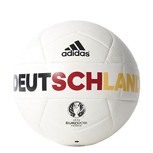 adidas Herren Ball EURO 2016 OLP Deutschland Capitano, White/Eqt Yellow/Power Red, 5, AC5457
