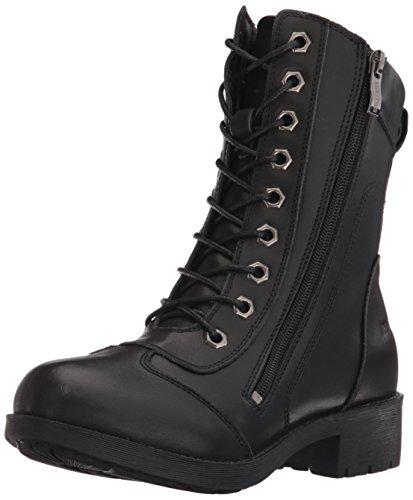 Leather Biker Boots Ladies - 4
