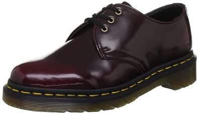 Dr. Martens Women's 1461 Vegan 3 Eye Shoe Boot,Cherry Red Cambridge Brush,3 UK/5 M US
