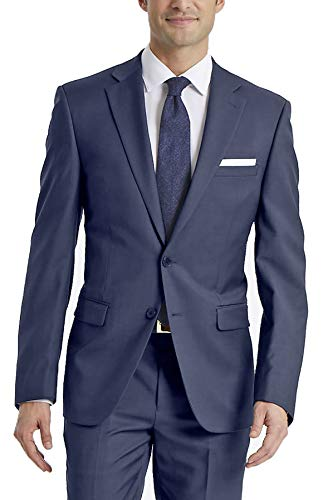 (Calvin Klein Men's X-Fit Slim Stretch Suit Separate Blazer (Blazer and Pant), Blue, 38 Regular)