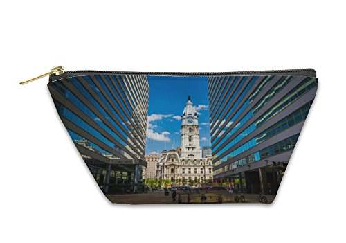 Gear New Accessory Zipper Pouch, Penn Center And City Hall In Center City Philadelphia Pennsyl, Small, - In Stores City Center Philadelphia