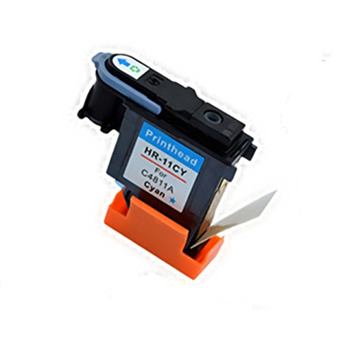 YATUNINK 1 Color Set Replacement For 11 Printhead C4811A (Cyan) Fit Officejet 9110 (C8140A) Officejet 9130 (C8144A) All-in-One Printer