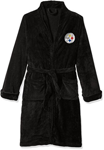 The Northwest Company Officially Licensed NFL Pittsburgh Steelers Men's Silk Touch Lounge Robe, Large/X-Large
