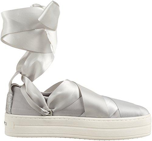 REPLAY Alto Blackstar Collo Sneaker Donna Argento Silver a 8xfwFx