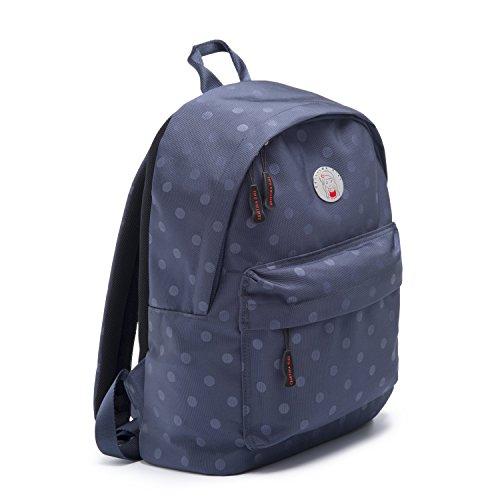 CRISTINA GIRL Women's mini backpack Nylon Polka Dot Ava Collection (Oxford Blue)