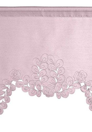 Transparen Kuvertstore Design Stickerei Blumen Farbe Rose mit Tunneldurchzug