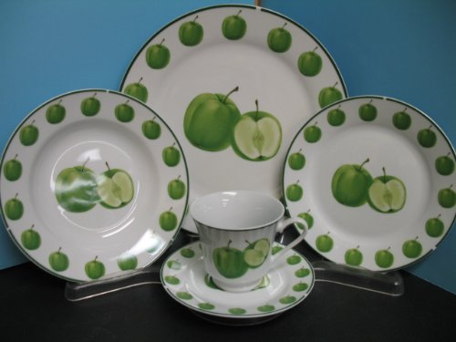 Green apple Dinnerware dinner set 20 Pcs