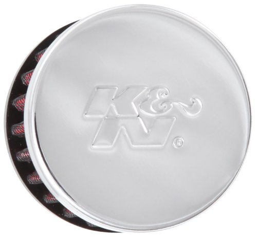 K&N 62-1320 Vent Air Filter/Breather: Vent Air Filter/Breather; 0.375 in (10 mm) Flange ID; 1.5 in (38 mm) Height; 2 in (51 mm) Base; 2 in (51 mm) Top